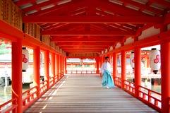 Itsukushima Shrine Monk Royalty Free Stock Image