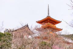 Itsukushima Shrine Pagoda. Miyajoma Itsukushima Shrine red Pagoda royalty free stock photos