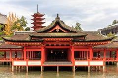 Itsukushima Shrine temple in Miyajima Royalty Free Stock Photos