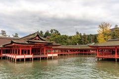 Itsukushima Shrine temple in Miyajima Stock Photos