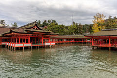Itsukushima Shrine temple in Miyajima Stock Photos