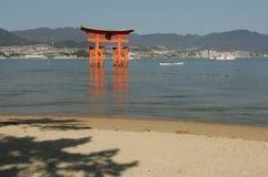Itsukushima Torii Stock Photo