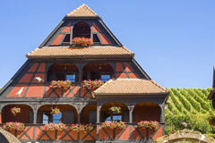 Itterswiller (Αλσατία) - σπίτι και αμπελώνας Στοκ Φωτογραφίες