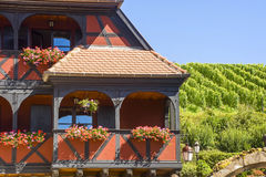 Itterswiller (Alsace) - House and vineyard Royalty Free Stock Photos