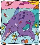ittiosauro δεινοσαύρων Στοκ Φωτογραφίες