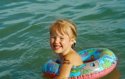 Ittle girl on the beach Royalty Free Stock Photo