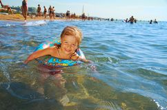 Ittle girl on the beach Royalty Free Stock Photography