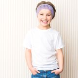 Ittle Girl In White T-shirt Royalty Free Stock Photo