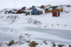 Ittoqqortoormiit, Greenland - Obrazy Stock