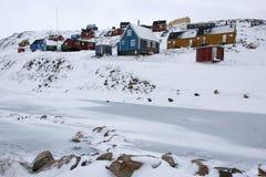 Ittoqqortoormiit - Groenland Stock Afbeeldingen