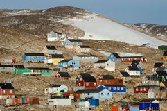 Ittoqqortoormiit Village - Greenland Royalty Free Stock Image