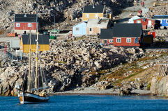 Ittoqqortoormiit Village - Greenland Royalty Free Stock Images