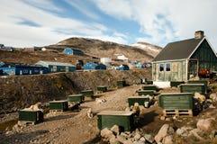 Ittoqqortoormiit Village - Greenland Stock Image
