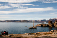 Ittoqqortoormiitdorp - Groenland stock fotografie