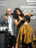 Itty agarwal at Profession beauty expo. Its photo of hairstying session by Itty Agarwal from Wahl Venue- Professional Beauty Expo,Mumbai Date - 6th Oct 2015 stock photography