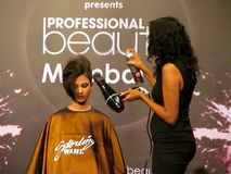 Itty agarwal at Profession beauty expo Royalty Free Stock Images