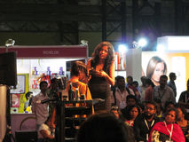 Itty Agarwal at Professional Beauty Expo 2015,Mumbai. Its photo of hair styling event at Professional Beauty Expo 2015,Mumbai Hair styling name - Itty Agarwal royalty free stock photo