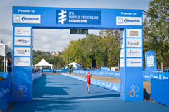 ITU World Triathlon Edmonton Stock Photo
