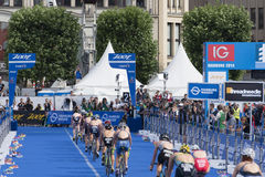 ITU World Triathlon Hamburg Stock Photography