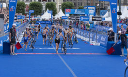 ITU World Triathlon Hamburg Royalty Free Stock Photography