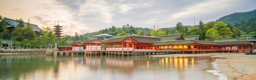Itukashima Shrine on Miyajima Island, Hiroshima Prefecture. Japan royalty free stock image