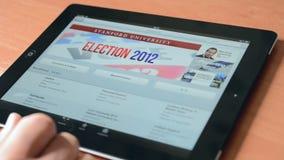 ITunes on an Apple iPad New stock video
