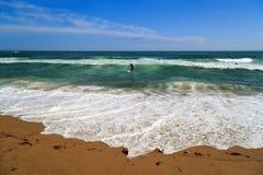 Сity beach. Barcelona, Spain Stock Images