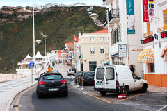 Ity of Nazare, a resort town on  Atlantic coast, May 7, 2013 in Nazare, Portugal. Royalty Free Stock Photos