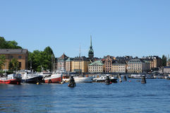 Ity of Stockholm and the Baltic sea Royalty Free Stock Image