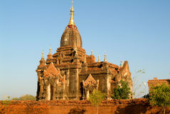 Itza kona temple at the archaeological site of Bagan Royalty Free Stock Photo