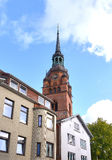Itzehoe , Germany . Small old German town near Hamburg. Laurentii-Kirch Royalty Free Stock Photography