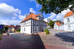 Itzehoe , Germany . Small old German town near Hamburg. Very beautiful small streets with old and new buildings Stock Photo