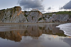 Itzurun beach in Zumaia Royalty Free Stock Photo