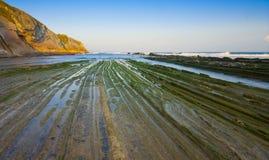 Itzurun beach, Zumaia, Gipuzkoa Royalty Free Stock Images