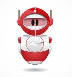4iU红色机器人 免版税库存图片