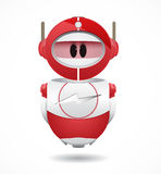 4iU Red Robot. Cute red robot flash logo Royalty Free Stock Image
