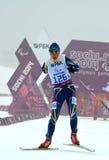 Iuliia Batenkova (Ukraina) konkurrerar på vinterParalympic lekar i Sochi Fotografering för Bildbyråer