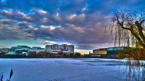 Iulius公园在冬天 免版税库存图片