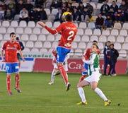 Iván Malón R(2) in action during match league Cordoba(W) vs Numancia (R) Royalty Free Stock Photography