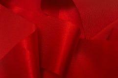 iv红色丝带 免版税库存照片