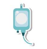 IV ιατρικό απομονωμένο εικονίδιο τσαντών Στοκ Εικόνες