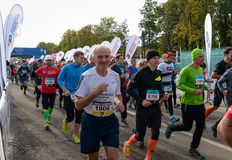 2016 09 25: IV μαραθώνιος της Μόσχας Η έναρξη των 42 2 χλμ Στοκ Εικόνες