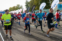 2016 09 25: IV μαραθώνιος της Μόσχας Η έναρξη των 42 2 χλμ Στοκ Εικόνα