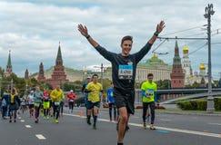 2016 09 25: IV μαραθώνιος της Μόσχας 36$η απόσταση μαραθωνίου χλμ Στοκ εικόνες με δικαίωμα ελεύθερης χρήσης
