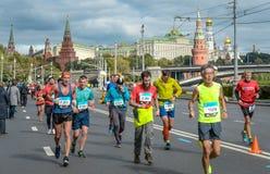 2016 09 25: IV марафон Москвы 36-ое расстояние марафона km Стоковое Изображение RF