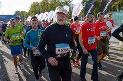 2016 09 25: IV марафон Москвы Старт 42 0,85 km Стоковые Изображения
