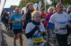 2016 09 25: IV марафон Москвы Старт 42 0,85 km Стоковое Изображение