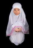 Νέο μουσουλμανικό κορίτσι που λέει μια προσευχή IV Στοκ Εικόνες
