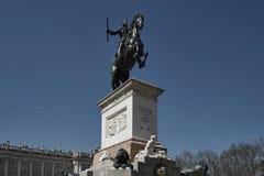 Памятник Филипп IV стоковая фотография