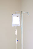 IV Antibiotic. Antibiotic iv medicine hanging from the stand dripping stock photography